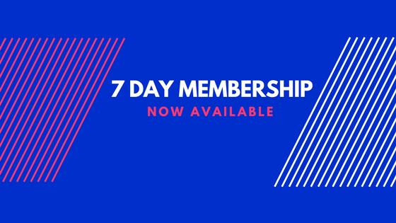 7 Day membership option
